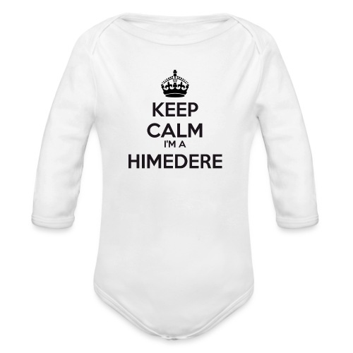 Himedere keep calm - Organic Longsleeve Baby Bodysuit