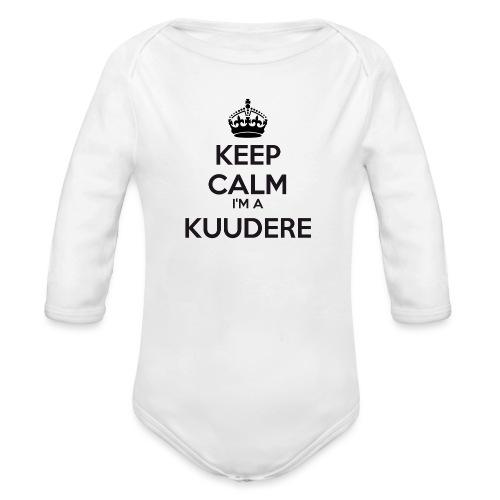 Kuudere keep calm - Organic Longsleeve Baby Bodysuit