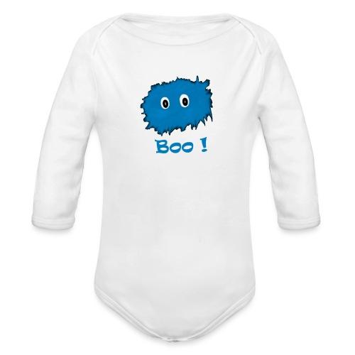 Boo! - Organic Longsleeve Baby Bodysuit