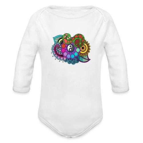 Coloured Nature Mandala - Organic Longsleeve Baby Bodysuit