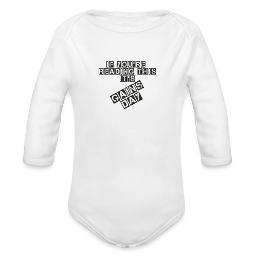gainsday - Langærmet babybody, økologisk bomuld