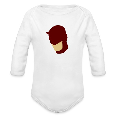 Daredevil Simplistic - Organic Longsleeve Baby Bodysuit
