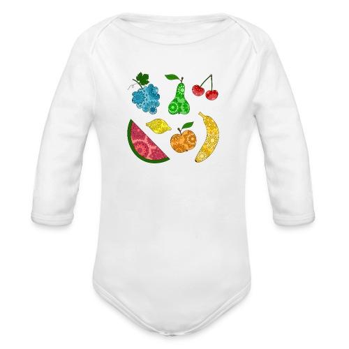 Obstsalat - Baby Bio-Langarm-Body