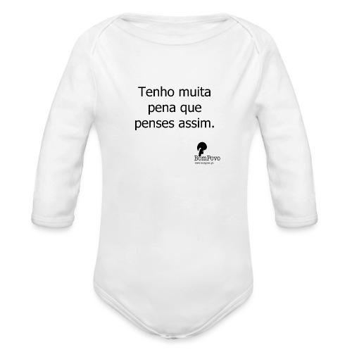 tenhomuitapenaquepensesassim - Organic Longsleeve Baby Bodysuit