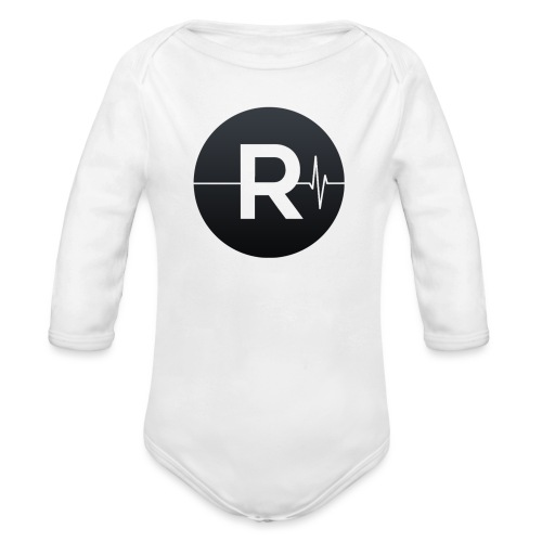 REVIVED Small R (Black Logo) - Organic Longsleeve Baby Bodysuit