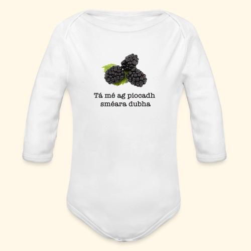 Picking blackberries - Organic Longsleeve Baby Bodysuit