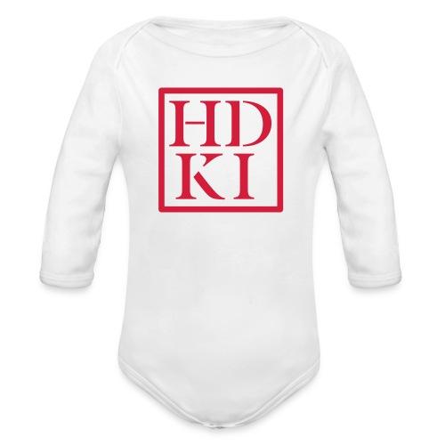 HDKI logo - Organic Longsleeve Baby Bodysuit