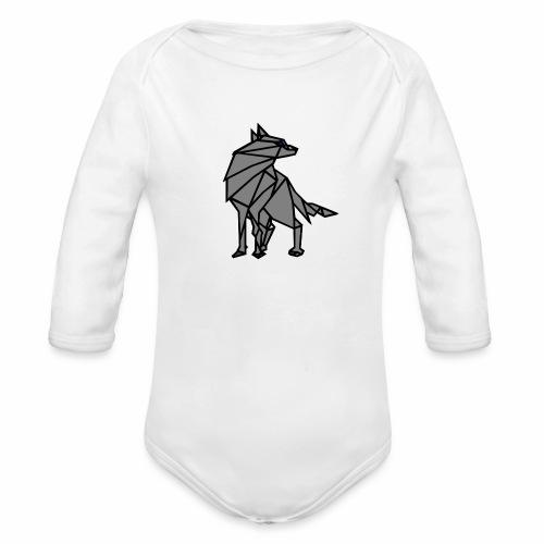 loup geometrique - Body Bébé bio manches longues