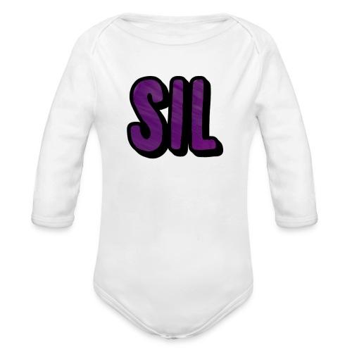 SIL LOGO - Baby bio-rompertje met lange mouwen