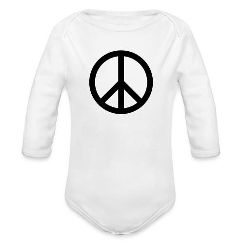Peace Teken - Baby bio-rompertje met lange mouwen