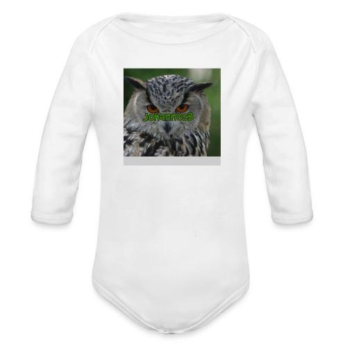 JohannesB lue - Økologisk langermet baby-body