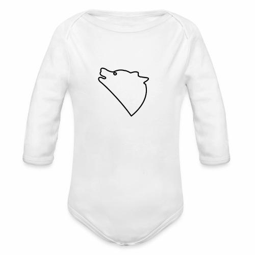 Wolf baul logo - Baby bio-rompertje met lange mouwen