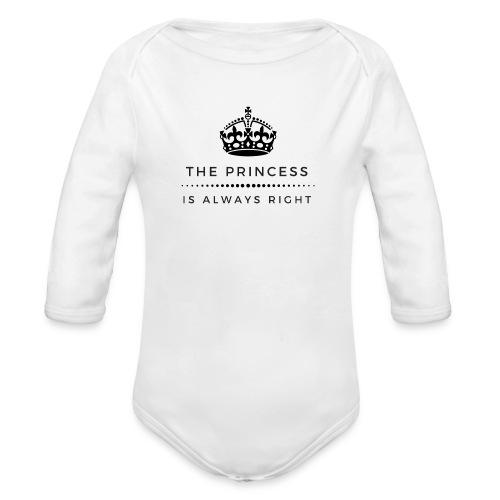 THE PRINCESS IS ALWAYS RIGHT - Baby Bio-Langarm-Body