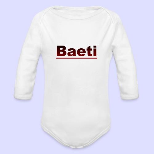 Baeti - Baby bio-rompertje met lange mouwen
