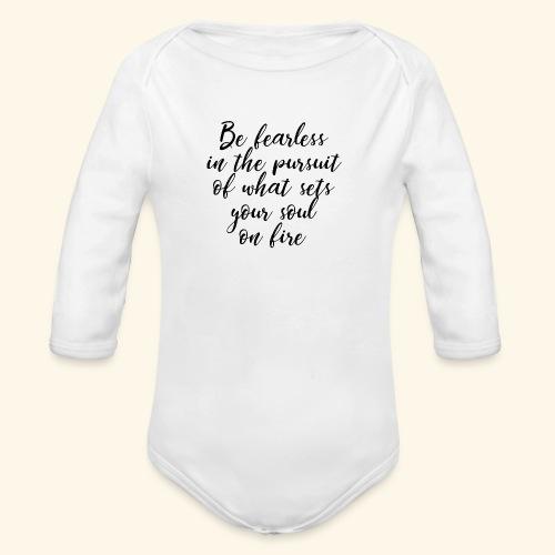 Fearless - Furchtlos - Baby Bio-Langarm-Body
