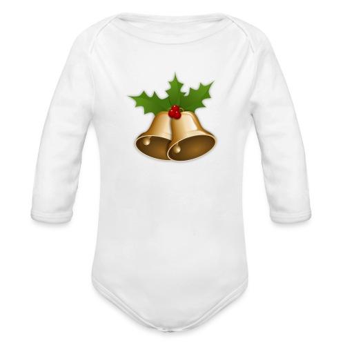 kerstttt - Baby bio-rompertje met lange mouwen