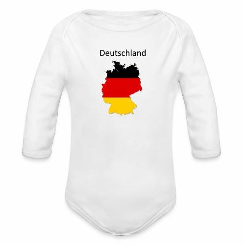 Deutschland Karte - Baby Bio-Langarm-Body