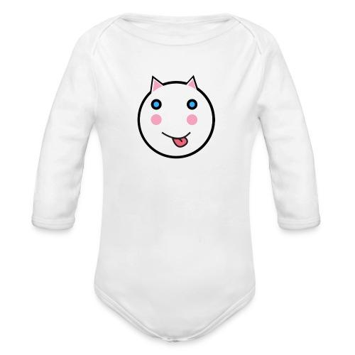 Alf The Cat - Organic Longsleeve Baby Bodysuit