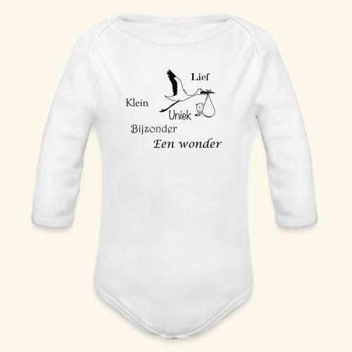 Baby T-shirt een wonder - Baby bio-rompertje met lange mouwen