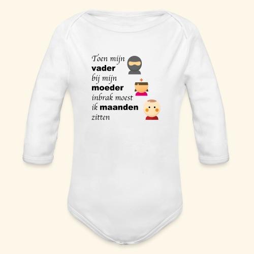 Vader breekt bij mama in - Baby bio-rompertje met lange mouwen
