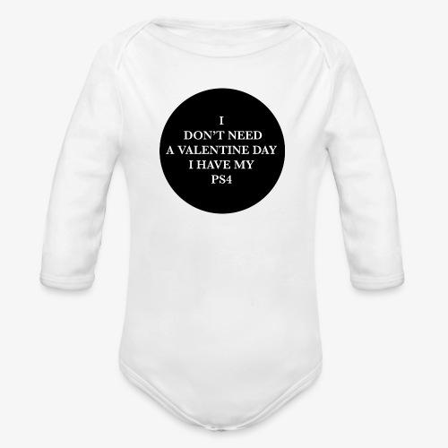 Valentine Day - Love videogame - Body ecologico per neonato a manica lunga