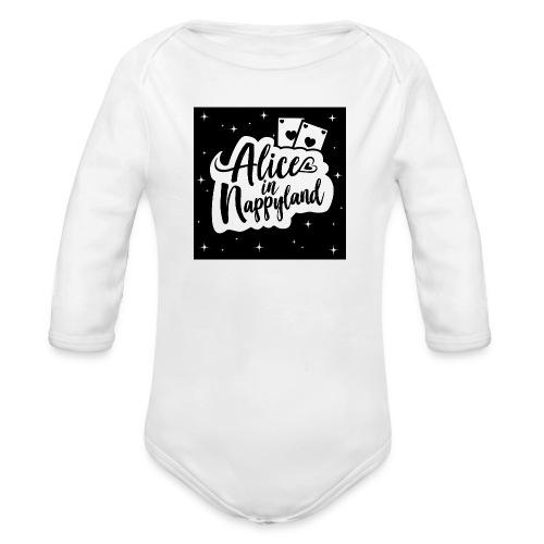 Alice in Nappyland 1 - Organic Longsleeve Baby Bodysuit