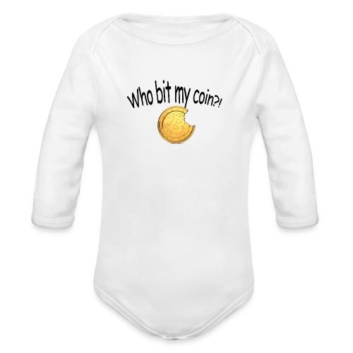 Bitcoin bite - Baby bio-rompertje met lange mouwen