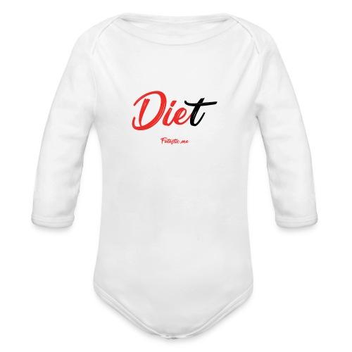 Diet by Fatastic.me - Organic Longsleeve Baby Bodysuit