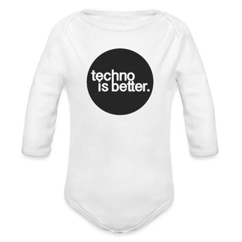 techno is better. - Ekologiczne body niemowlęce z długim rękawem