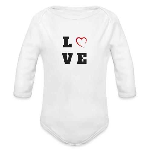 LOVE - Body Bébé bio manches longues