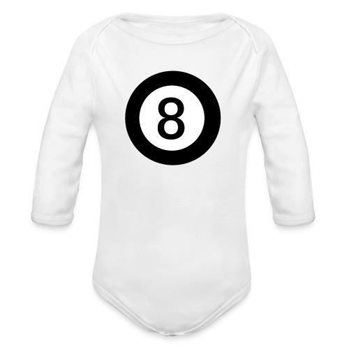 Black 8 - Organic Longsleeve Baby Bodysuit