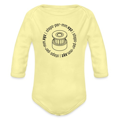 steps-per-mm Round Logo - Organic Longsleeve Baby Bodysuit