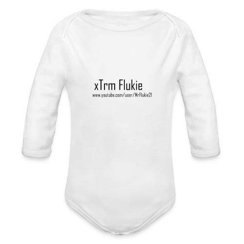 xTrm Flukie - Organic Longsleeve Baby Bodysuit