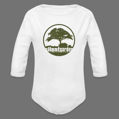 hiljainen puutarha (vihreä oldstyle) - Vauvan pitkähihainen luomu-body