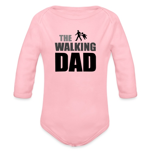 the walking dad auf dem Weg in die lustige Bar - Baby Bio-Langarm-Body