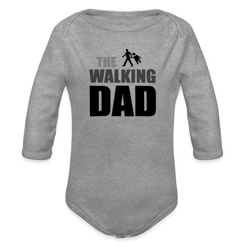 the walking dad auf dem Weg in die lustige Bar - Baby Bio-Langarm-Body