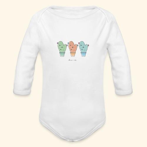 Third eye cactus - Body ecologico per neonato a manica lunga