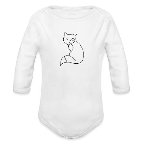 cute fox - Baby Bio-Langarm-Body