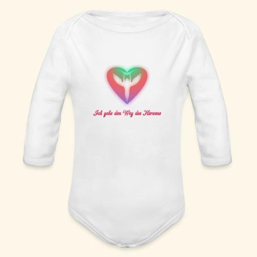 Ich gehe den Weg meines Herzens - Baby Bio-Langarm-Body