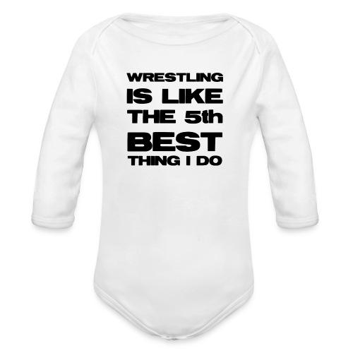 5thbest1 - Organic Longsleeve Baby Bodysuit