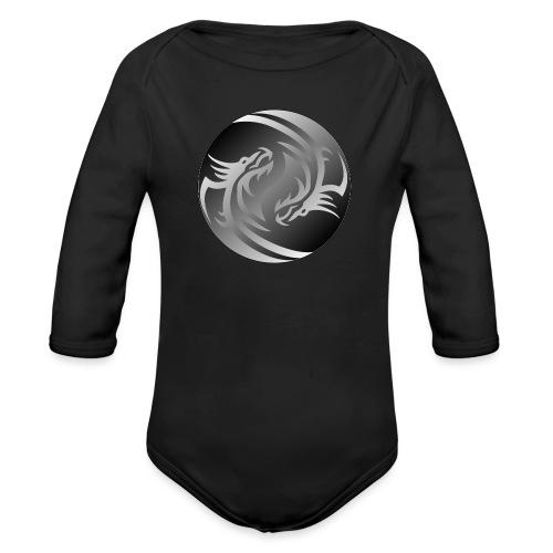 Yin Yang Dragon - Organic Longsleeve Baby Bodysuit
