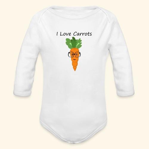 Love Carrots - Body orgánico de manga larga para bebé