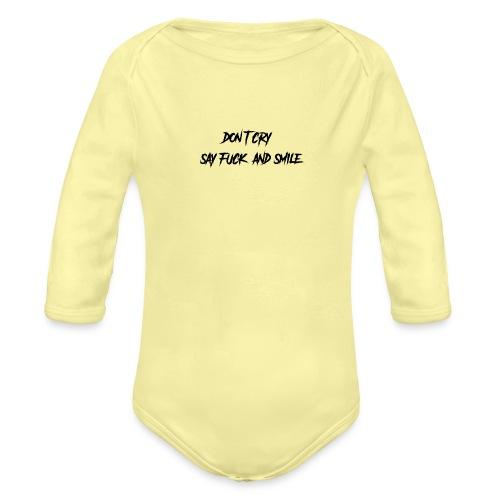 Dont cry - Vauvan pitkähihainen luomu-body