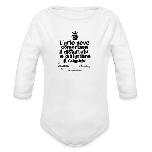 Aforisma Banksy - Body ecologico per neonato a manica lunga