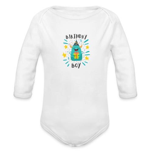 Geburtstagskind Junge - Baby Bio-Langarm-Body