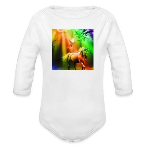 SASSY UNICORN - Organic Longsleeve Baby Bodysuit
