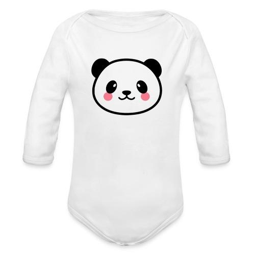 Panda Tout Rond - Body Bébé bio manches longues
