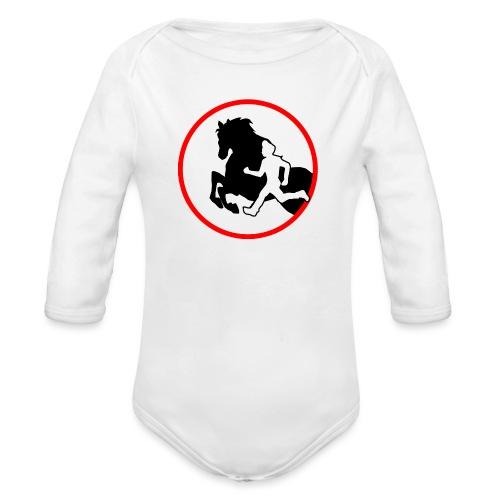 Horse Agility Logo - Baby Bio-Langarm-Body