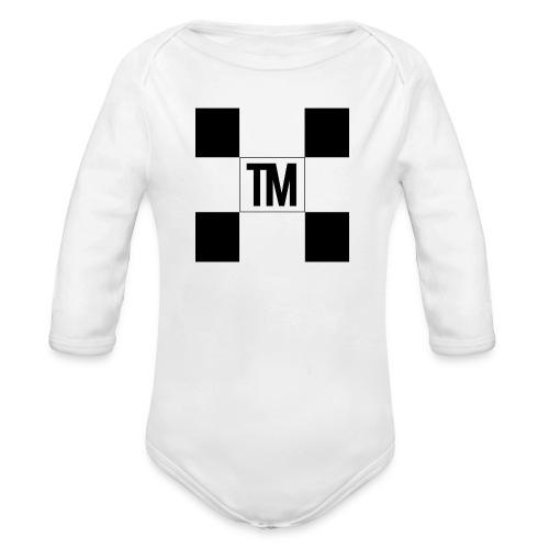 Checkered - Organic Longsleeve Baby Bodysuit