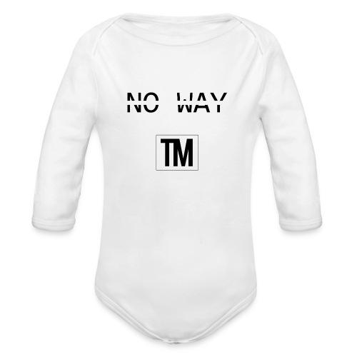 NO WAY - Organic Longsleeve Baby Bodysuit